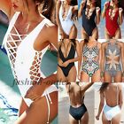 Women Brazilian One-Piece Push Up Bikini Padded Monokini Swimsuit Beachwear FO