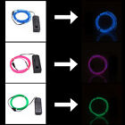 2× 9ft Neon Glowing Strobing Electroluminescent Wire CLEARANCE SALE