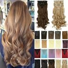 100% Natural lady Full Head Ombre Clip in Hair Extensions Brown Grey Human T3F