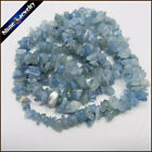 "1/2/5 PCS 36"" Strand Natural Aquamarine Chip Gemstone Gravel Loose Beads 5-8mm"