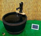 Water Feature Garden Pond Fountain Solar Pump Barrel Patio Gold Fish New