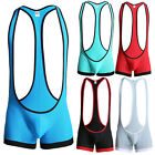 New Mens Sexy Breathable Bodysuit Sportswer Fitness gym Wrestling Boxer Suit