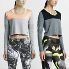 Nike Women's DRI-FIT Knit Epic Running Jogging Crew Neck Sweatshirt Training Top
