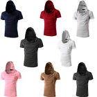 Fashion Men's Hooded T-shirt Korean Casual Hoodie Shirts Short Sleeve Cap Tops