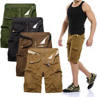 Casual Fashion Mens Large Size Trousers tooling Shorts Multi-Pocket Cotton Pants