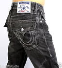 True Religion Men's Hand Picked Mega T Straight Jeans - M3F859EY4 Size 36x34