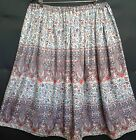 LADIES PLUS SIZE SKIRT blue/red paisley HANDMADE IN UK size 30 32 34 36 38 40