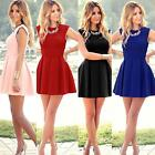 Women Summer Sexy Sleeveless Bodycon Evening Party Cocktail Short Mini Dress UK