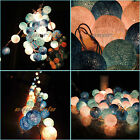 20/35 COTTON WEDDING FAIRY Christmas LED PATIO STRING LIGHTS BALL #E PARTY MYDZY