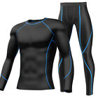 Mens Sports Exercise Compression Shirt Pants Under Base Layer Running Tights