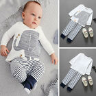 2pcs Baby Clothes Boy Elephant Shirt + Pants Pajamas Kids Sets Outfit for 0-3Y