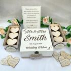 Vintage Rustic Wedding Wish Box Guest Book Alternative Drop in Box Wooden White