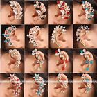 Gold Tone Crystal Glass Temptation Cartilage Clip-on Wrap Ear Cuff Earring Gift