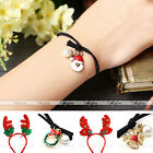 1pc Xmas Deer Antlers Headband Hair Band Rope Ponytail Holder Bracelet Accessory
