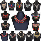 Women Jewelry Crystal Chunky Statement Bib Pendant Chain Choker Necklace 60Style