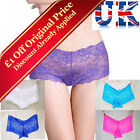 **3-Pack**Womens Lace Brief Shorts Knickers**Size Small & Medium**UK Seller**