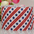 "7/8""22mm star printe grosgrain ribbon tape USA Independent day faster delivery"