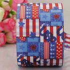 "1""25mm USA National holiday party printed grosgrain ribbon 4th July"