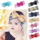 Baby Kids Girls Hair Band Sequined Bow Headband Turban Knot Hair Accessories New