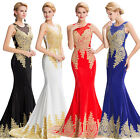 SPARKLY Masquerade Applique Gowns Evening Cocktail Party Gown Bridesmaid Dress