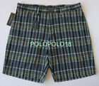 New Polo Ralph Lauren Indian Madras Plaid Shorts 35 38