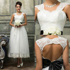 Long Women's White Lace Wedding Dress Evening Party Formal Bridesmaid Prom Gown