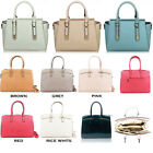 WOMEN'S LARGE PATENT FAUX LEATHER TOTE HANDBAGS CELEB STYLE BAGS