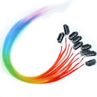 New Lot Rainbow Colors Synthetic Cosplay Clip-In/on Feather Hair Extensions 16''