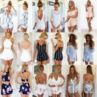 Womens Celeb Sexy Mini Playsuits Ladies Jumpsuit Shorts Summer Beach Sun Dresses