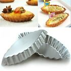 Reusable & High Qulity Egg Tart Boat Mould Cupcake Jelly Liner Baking Tins Pan Y