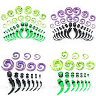 42pcs Acrylic Horn Taper Stretcher Spiral Tunnel Plugs Stretching Kit Set Gauges