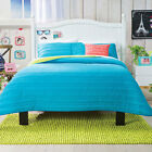 Girls and Teens Twin, Full/Queen Size Basic Turquoise Comforter Set