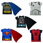 Boys Disney & Marvel Superhero Action Movie Novelty T-Shirts Brand New Gift