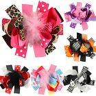 1PCS Baby Toddler Infant Girls Bow Hair Clip Feather Hairpin Accessories 15*12cm