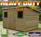 FITTED & DELIVERED* Pent Tanalised garden Shed Fully T&G Tanalised Top Quality