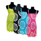 4 Pack: Women's Swirl Pattern Sundresses
