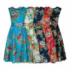 Floral 1940's Vintage Retro Lightweight Cotton Tea Dress 5 Colours New 8 - 20