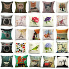 18 Lovely Cat Flowers Cotton Linen Pillow Cases Sofa Cushion Covers Home Decor