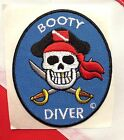 scuba patch diving equipment novelty gift snorkeling jacket beach BootyDiver 731