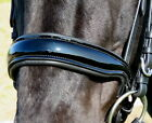 FSS PATENT Gloss Padded CUT-AWAY Shaped Crank Cavesson TWIN BUCKLE Noseband NEW