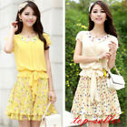 New summer Women Ladies Skirt New Korean slim summer Chiffon party sexy Dress