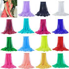 Soft Beach Cover Up Shawls and Scarves Spring Long Chiffon Scarfs White