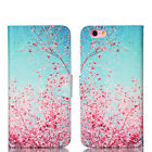 Card Slot Leather Pouch Printed For Apple iPhone Flip Wallet Case Cover Stand
