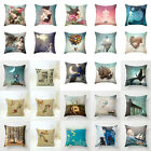 Beautiful Scenery Flowers Beauty Cotton Linen Pillow Cover Throw Cushion Cover