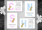Baby thank you cards x 10 Girl or Boy (1A - 1D) Postcard or folded available