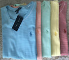 NWT Ralph Lauren T-shirt red blue yellow green white striped polo women shirt