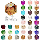100 pcs Cube Carré Cristal Perles Collier DIY Bijoux Making 4mm 6mm