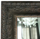 Parisienne Ornate Framed Wall Mirror, Vanity Bathroom Mirror Antique Black