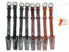 """FSS German Leather POSH OVAL SNAP CLIP Bridle Cheekpieces Cheek Pieces 5/8"""" 16mm"""