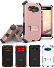 RUGGED TRI-SHIELD CASE COVER STAND FOR SAMSUNG GALAXY SOL J3 EXPRESS AMP PRIME